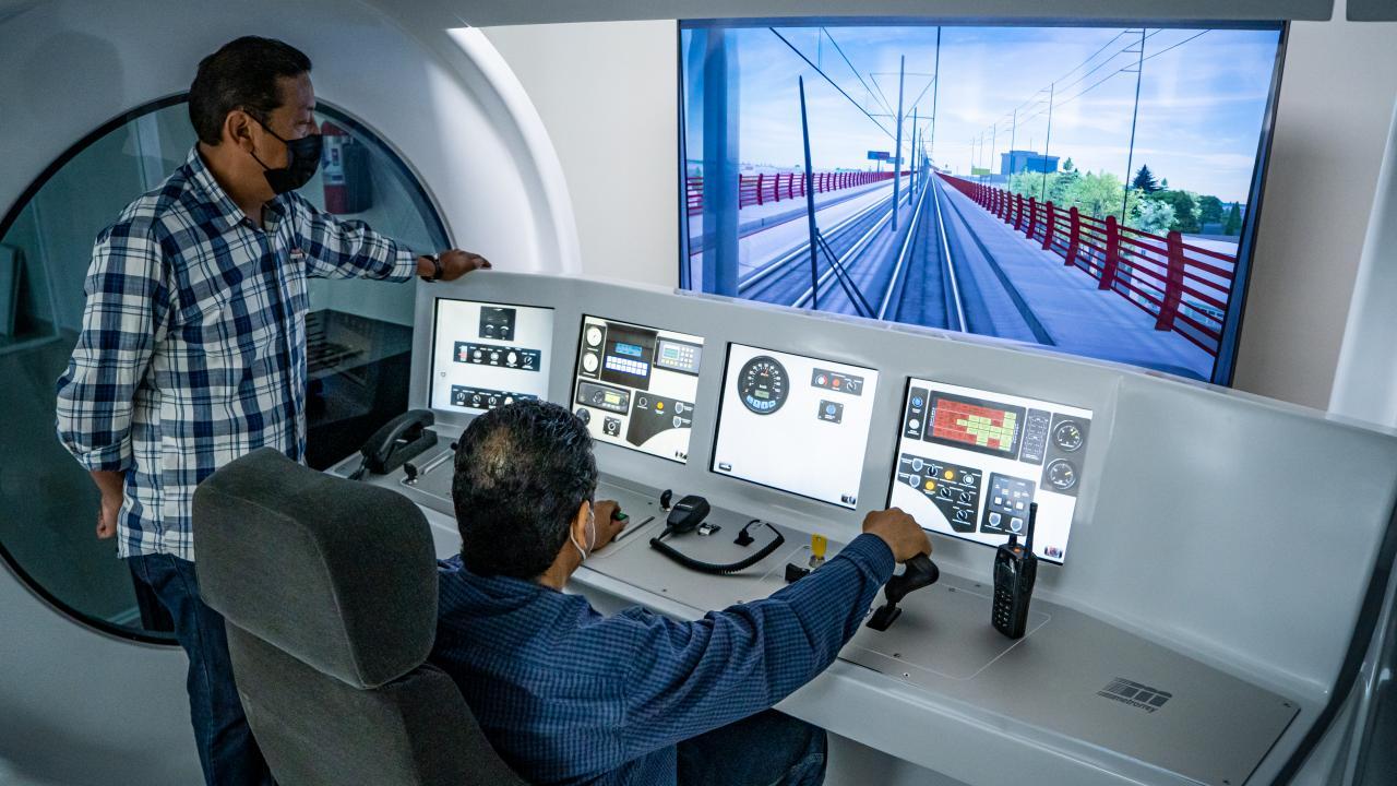 Railway Operational Control Center simulator