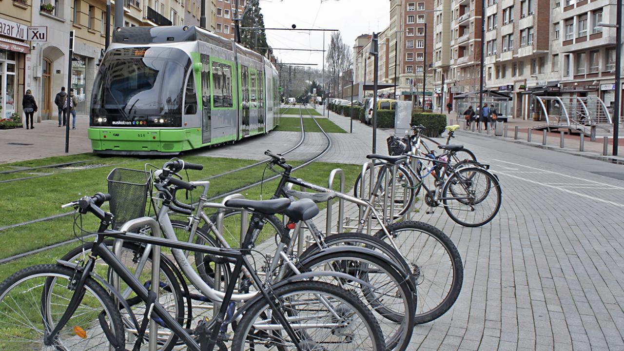 Tram driving simulator for Euskotren